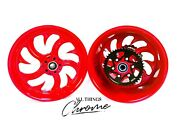 Yzf 240 Fat Tire Candy Red Shark Tooth Wheels 2004-2008 Yamaha Yzf R1