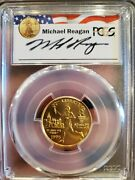 1995-w 5 Reagan Legacy Olympic Torch Runner Gold Commemorative Coin Pcgs Ms70