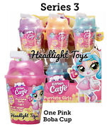 1 Pink Boba Cup Series 3 Kitten Catfe Purrista Girls Mystery Pack Doll Meowble