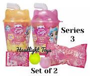 2 Boba Cups Series 3 Kitten Catfe Purrista Girls Mystery Pack Cafe Doll Meowble