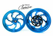 Cbr1000rr 330 Fat Tire Candy Blue Contrast Samurai Wheels 03 And 04 Cbr1000rr