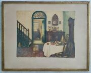 Antique Colored Etching L'art Francais Hand Signed Limited Edition Numbered /350