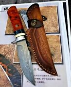 Collectible Drop Point Knife Hunting Tactical Combat Damascus Steel Handmade Cut