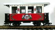 Lgb The Christmas Train Red And White Passenger Car The Red Set New