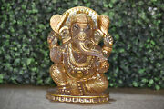 7 Lord Ganesha Statue Of Rock Crystal Gemstone Hand Carved Temple Decor Statue