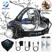 Led Headlamp Fishing Headlight T6/l2/v6 3 Modes Zoomable Waterproof Super Bright