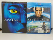 Avatar Blu-ray+dvd+slip Cover And After Earth Blu-ray+dvd