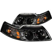 121042 Anzo Headlight Lamp Driver And Passenger Side New Lh Rh For Ford Mustang