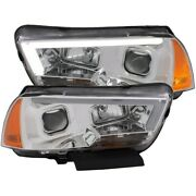 121525 Anzo Headlight Lamp Driver And Passenger Side New Lh Rh For Dodge Charger