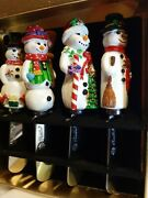 Christopher Radko Snowman Pate Knives Spreaders Home For The Holidays Christmas
