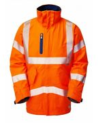 Leo Marisco High Visibility Iso 204713 Ris3279 Waterproof Breathable Coat