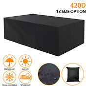 Upgraded Outdoor Patio Table Cover Heavy Duty 420dwaterproof Dustproof Protector
