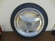 Akront Drag Racing 16-2.50 Front Wheel W/new Firestone 16-3.0 Tire For Harley
