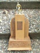 Rare Art Deco Wood Baseball Sports Trophy 18 1/4 Tall Awesome Piece 1940's