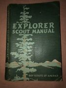 Vintage 1946 Explorer Scout Manual Boy Scouts Of America Book