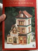 Dickens Collectables Christmas Village Post Office Porcelain Lighted House