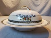 Antique Early 1920s Round Butter Dish By Noritake, Pattern N850