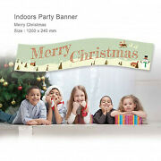 Christmas Party Xmas Snowman Card Decorations Party Banner Personalised Style