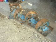 4 Vintage 10 Steel And Cast Iron Hit And Miss Industrial Swivel Caster Wheels Heavy