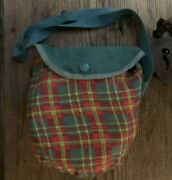 Vintage Girl Scout Mess Kit /fry Pan With Cover/cross Body 1960s Green Plaid