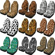2pcs Car Seat Cover Protector Sets Stretchy Universal Spot Leopard Snake Pattern