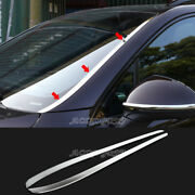 2x For Porsche Cayenne 2014-2017 Chrome Stainless Front Windshield Trim Covers