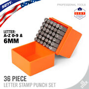 1/4 Letter And Number Stamp Punch Set 36pc Hardened Steel Metal Wood Leather 6mm