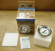 Bayou Classic 500-580 Stainless Bbq Smoker Grill Temperature Gauge Clamshell Nd7