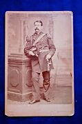 1870's Cabinet, Lt.col.charles Orvis, 2nd Brigade Staff, Holding Chapeau And Sword