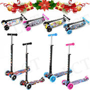 Led Scooter For Kids Luxury 3 Wheel Glider Adjustable With Kick N Go Lean 2 Turn