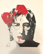 Death Nyc John Lennon Lithograph Signed Numbered Art Print W/coa 2018 Beatles