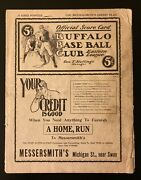Early 1900's Buffalo Bisons Baseball Program - George Stallings Manager