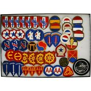 Wwii Us Army School Rotc Vintage Embroidered Patches 48 Piece Lot