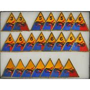 Wwii Us Army 3rd 5th 6th School Armored Division Tank Unit Patch 22 Piece Lot