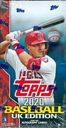2020 Topps Uk Edition Baseball Factory Sealed Hobby Box Online Exclusive