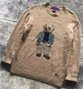 Collection Bedford Bear Knit Sweater Women's Tops Size S Beige