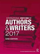 International Who's Who Of Authors And Writers 2017 9781857438390   Brand New