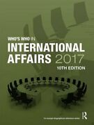 Who's Who In International Affairs 2017 By Europa Publications 9781857438383