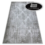 Thick And Dense Woven Acrylic Rugs Valencia Ornament Grey Best Quality