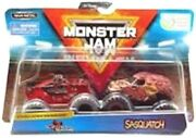 Spin Master Monster Jam 1/64 2 Pack Double Down Northern Nightmare And Sasquatch