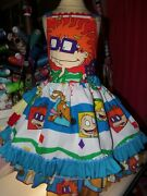 Rugrats Pageant Dress Christmas Vintage New Fabric Dress Size 5t Ruffles