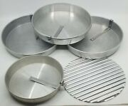 Vintage Lot Of Mirro And Maid Of Honor Aluminum Pie Pans Tins Plates