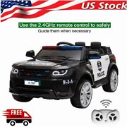 12v Electric Cars Kids Children Toy Police Ride On Car 2.4g Remote Control Led