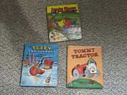 Vintage Lot Tell-a-tale Books Little Hank Tommy Tractor Tuffy The Tugboat