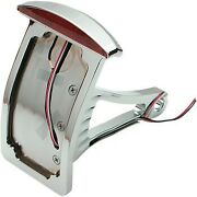 Axle Side Mount Half-moon Led Taillight And Curved Vertical License Plate Mount