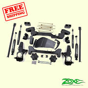 6 Front And Rear Suspension Lift Kit For Gmc 1500hd Pickup 4wd Gas 2001-2006 Zone