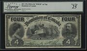 1902 Dominion Of Canada 4 Four At Top - Legacy Very Fine 25 - Dc-17b