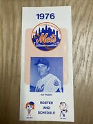 1976 New York Mets Spring Training Roster And Schedule