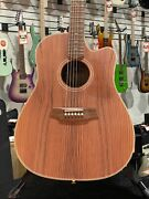 Cole Clark Fat Lady Series 2 Redwood Dreadnought Cutaway   Ohsc + Free Shipping