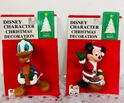 Vintage Trim A Home Disney Characters Mickey And Donald Christmas Ornaments
